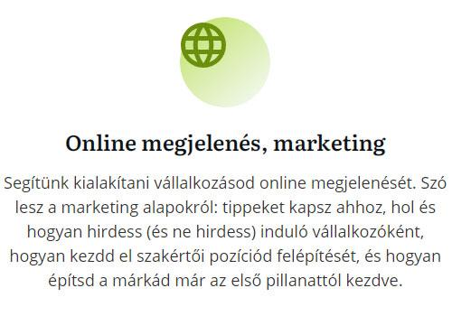 Online megjelenés, marketing